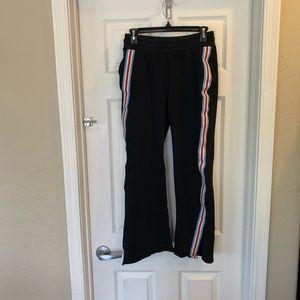 Zara Black Sweatpants with Size Stripes and Slits